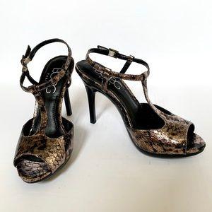 BCBG Paris Metallic Heels